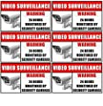 "Outdoor/Indoor (6 Pack) 3.54"" wide X 2.24"" high Home Business Security DVR Camera Video Surveillance System Window Door Warning Alert Sticker Decals **Back Self Adhesive Vinyl**"