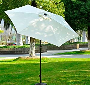 Outsunny 9' Outdoor Aluminum Patio Market Umbrella w/ Tilt from Outsunny