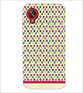 PrintDhaba Kiss Pattern D-1038 Back Case Cover for LG GOOGLE NEXUS 5 (Multi-Coloured)