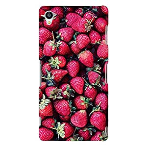 Jugaaduu Strawberry Pattern Back Cover Case For Sony Xperia Z3