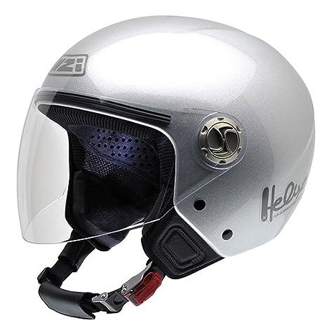 NZI 050258G262 metal helix iV autres casques bluetooth, bTMP casco de moto (taille :  54 cm argent)