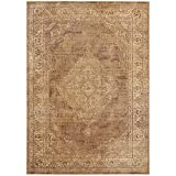 Safavieh Vintage Collection VTG112-660 Area Rug, 5-Feet 3-Inch by 7-Feet 6-Inch, Taupe Viscose