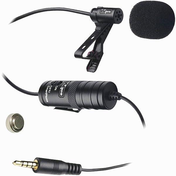 Micrófono externo Vidpro XM-L Wired para videocámaras GoPro   micrófono de solapa  ElectretTransducer type: Condensador de electrodo.