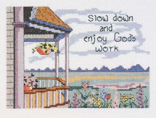Janlynn Cross Stitch Kit, Enjoy God's Work