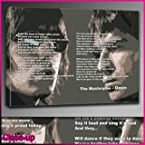 The Masterplan Oasis Lyrics Framed Ready To Hang Canvas by whatsonyourwall, Music Wall art Sizes from 8