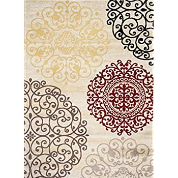 Rugshop Contemporary Modern Floral Indoor Soft Area Rug, 53