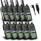 Baofeng - 10PCS UV-5XTP 8W Dual Display VHF136-174MHz UHF400-520MHz Handheld Two-way Radio Standby Transceiver Walkie Talkie+Programming Cable