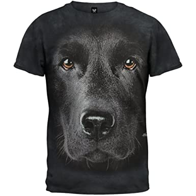 The Mountain Black Lab Face Mens T-shirt S