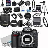 Nikon D7000 16.2MP DX-Format CMOS Sensor Digital SLR Camera (Black) Import Model with Nikon 18-105mm f 3.5-5.6G ED VR AF-S DX Nikkor Autofocus Lens + Full 32GB Deluxe Accessory Bundle