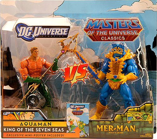 Picture of Mattel DC Universe Masters of the Universe Classics Exclusive Action Figure 2Pack Aquaman Vs. MerMan (B004E7EO8O) (Mattel Action Figures)