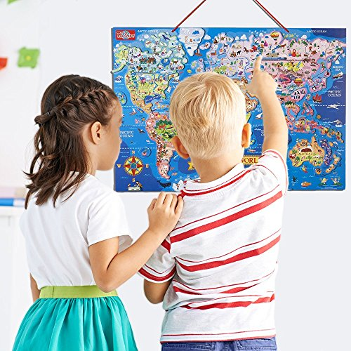T.S. Shure Wooden Magnetic World Map Puzzle