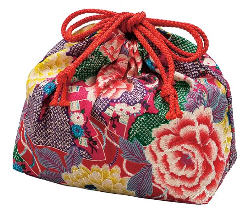 HAKOYA drawstring bag fan Rose 53 816 (japan import) - 1