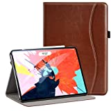 Ztotop for iPad Pro 12.9 Case 2018, Premium Leather Slim Stand Cover Folio Case for iPad Pro 12.9-Inch 3rd Gen (Latest Model) with Auto Sleep/Wake, Charge/Pair with New Pencil, Brown (Color: Brown, Tamaño: Apple iPad Pro 12.9 inch 3rd Gen 2018 Released)