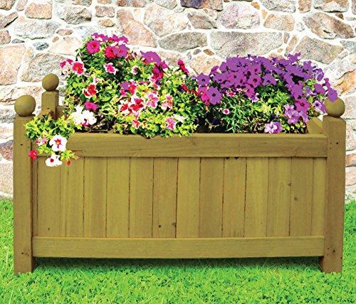 traditional-wooden-rectangular-planter-garden-plants-flowers-outdoor-natural-new