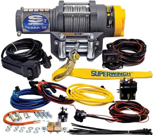 Buy Superwinch 1135220 Terra 35 3500lbs/1591kg single line pull with roller fairlead, handlebar mnt ...