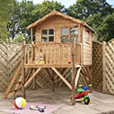 7ft x 5ft Wooden Poppy Tower Playhouse - Brand New 7x5 Wood Cottage Playhouses