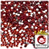 The Crafts Outlet 1440-Piece Flat Back Round Rhinestones, 3mm, Ruby Red