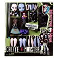 Mattel X8883 - Monster High Create A Monster, Crea il mostro, Vampiro e mostro marino
