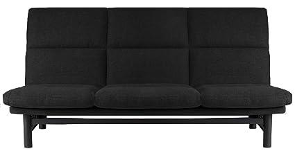 Traumnacht Schlafsofa Brooklyn mit Lattenrost, Liegefläche 135 x 195 cm, inkl. Gestellhusse, schwarz