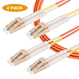 LC to LC Duplex OM1(62.5/125) Multimode LSZH Jacket 2.0mm Fiber Optic Patch Cable - 10 Meter/2 Pack (Color: OM1, Tamaño: 10 Meter/2 Pack)