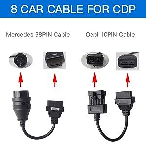 KKLUSB Car Cables OBD OBD2 Delphi Diagnostic Tool Interface Cable TCS CDP Pro Plus Full Set 8pcs Car Cables