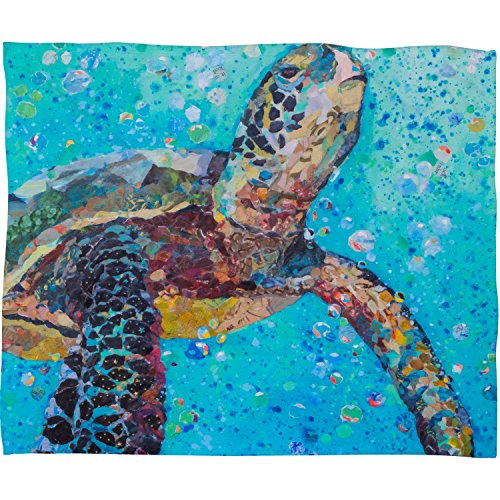 "DENY Designs Elizabeth St Hilaire Nelson Fleece Throw Blanket, Water Baby, Medium 60"" X 50"""