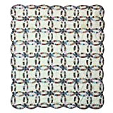 Patch Magic Queen Country Wedding Ring Quilt, 85-Inch by 95-Inch