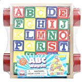 SAVE $6.01 - 30 Piece ABC Stack N' Build Wagon Blocks with Learning Pictures Kids Toy $9.99