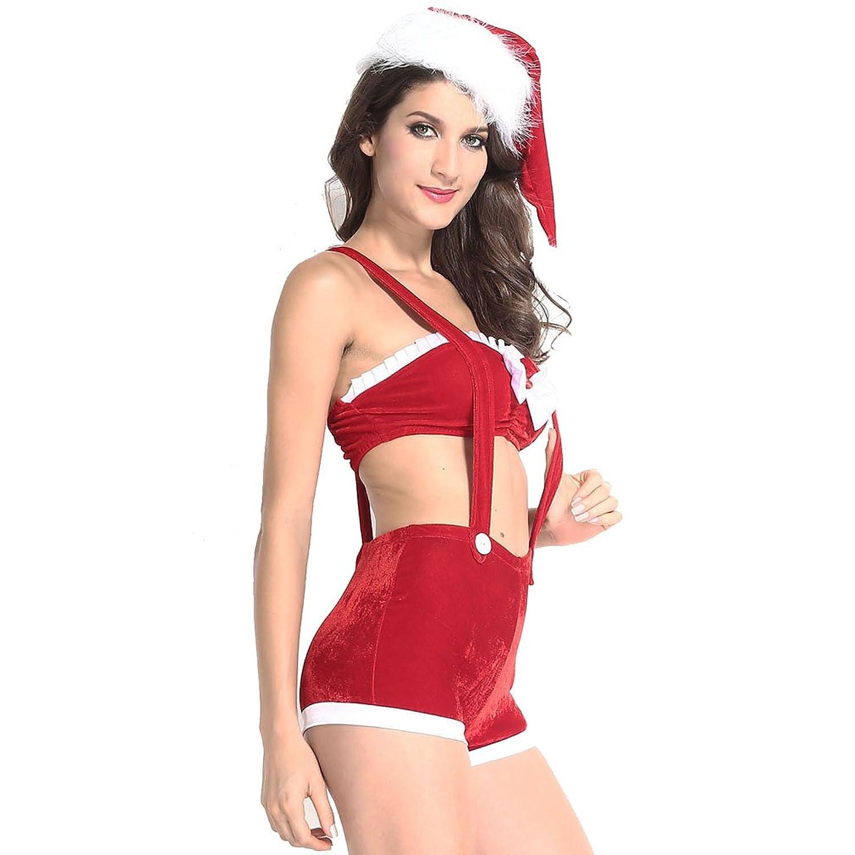 Lukis Weihnachten Damen Bauchfrei Kostüm Bandeau Cosplay Babydoll kaufen