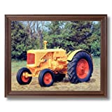 1938 Minneapolis Farm Tractor Home Decor Wall Picture Cherry Framed Art Print