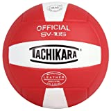 Tachikara Institutional quality Composite VolleyBall, Scarlet-White