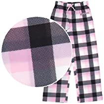 Calvin Klein Pink Plaid Pajama Pants for Girls L/10-12