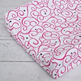 Caden Lane Luxe Collection Changing Pad Cover, Dark Pink Swirl