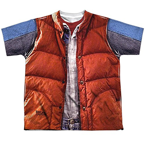 Back to the Future 80 SyFy Marty's Red Vest Costume - S to XL
