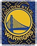 NBA Golden State Warriors 46'' x 60'' Slate Blue Tattoo Jacquard Woven Blanket Throw at Amazon.com