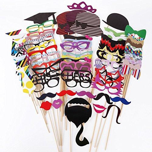 kimilar-76-tlg-party-foto-verkleidung-schnurrbart-lippen-brille-krawatte-huten-photo-booth-props-set
