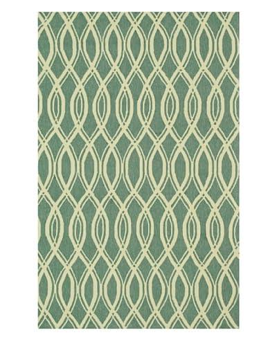 Loloi Rugs Venice Beach Rug, Turquoise/Ivory, 7' 10 Round