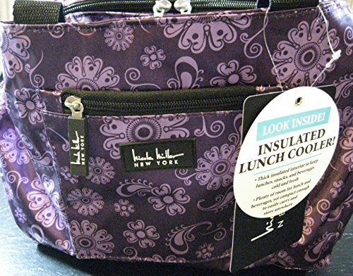 nicole-miller-of-new-york-insulated-lunch-cooler-medaillon-purple-11-lunch-tote-by-nicole-miller