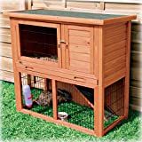 TRIXIE-Pet-Products-Rabbit-Hutch-with-Sloped-Roof