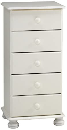 Steens Furniture 3022050050000F/1022050050000N - Comò Richmond, in pino massiccio, 91 x 44 x 39 cm, colore: Bianco
