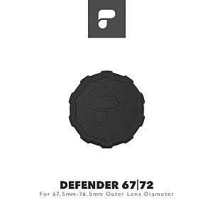 PolarPro Defender 67 | 72 Lens Cover (Fits Lenses with 67.5mm -76.5mm Outer Lens Diameter)