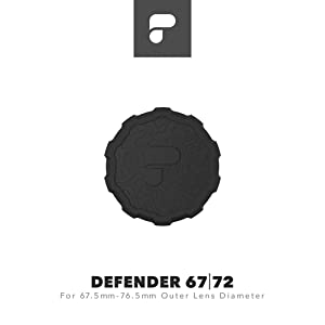 PolarPro Defender 67 | 72 Lens Cover (Fits Lenses with 67.5mm -76.5mm Outer Lens Diameter)