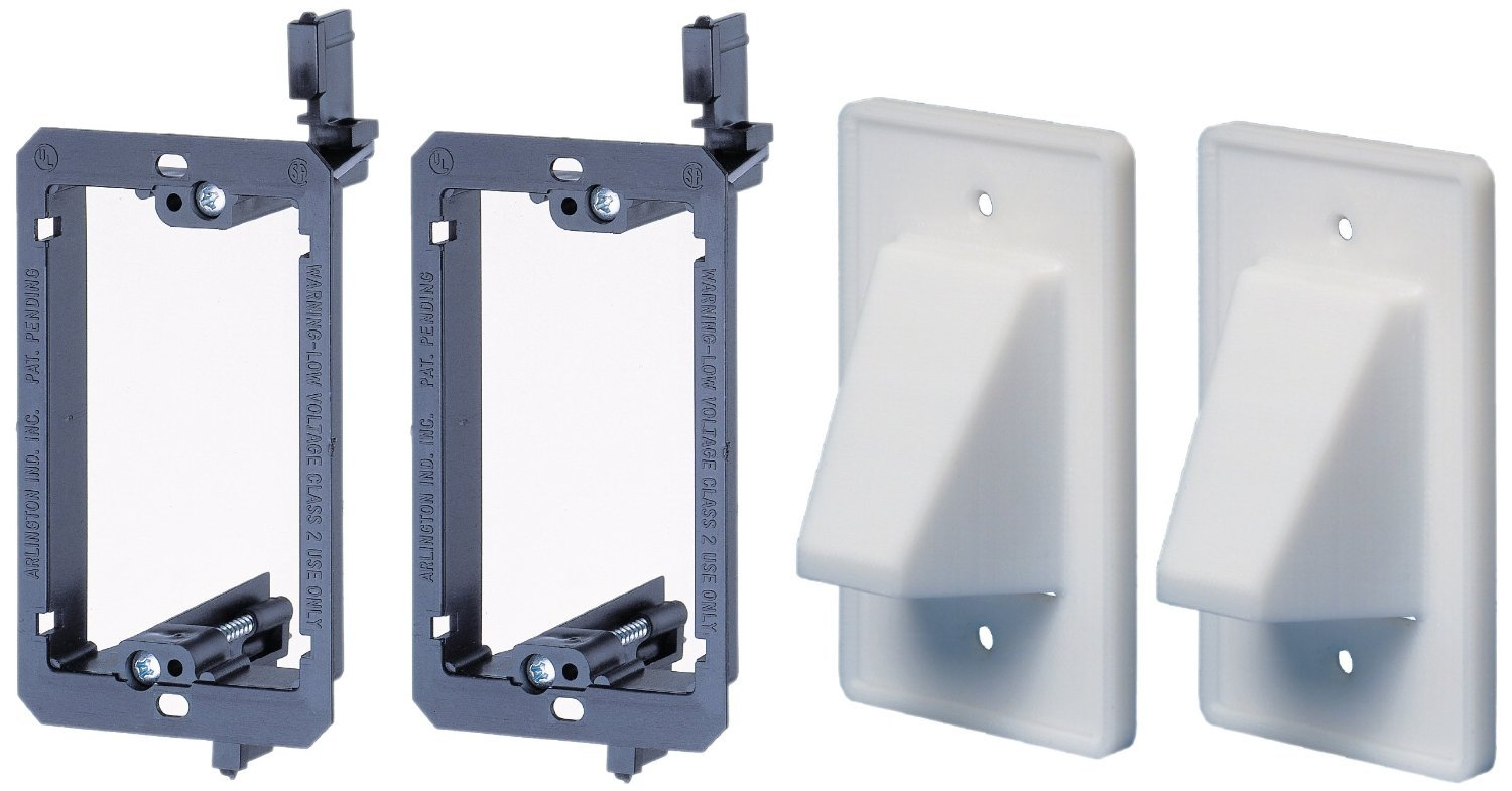 Low Voltage Wall Mounting : Arlington lvce low voltage mounting bracket with cable