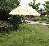 Outsunny Portable Tiki Thatch Beach Patio Umbrella, 6-Feet