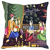 Sleep nature's Mughal Kings and Queens Painting Printed Cushion Cover