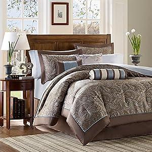 Amazon Com Aubrey 12 Piece Comforter Set Size Queen
