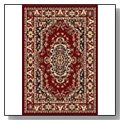 8x10 Traditional Area Rug in Supreme Red