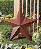 """3D Large 36"""" Rustic Western Amish Texas Americana Style Barn Star Wall Hanging or Stake in Ground Patio Garden Yard Deocration"""