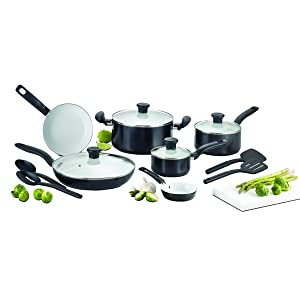 T-fal C921SE Initiatives Ceramic Nonstick Cookware Set, 14-Piece review