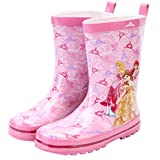 Princess Girl Kids Wellington Boots Wellies Rain Boot (Toddler/Little Kid) (9T US Toddler) (Color: Pink, Tamaño: 9T US Toddler)
